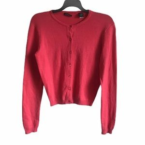 Moda International Silk Cashmere Coral Cardigan